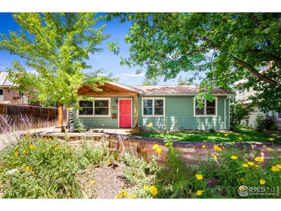 Boulder Single Family Home For Sale: 1501 Dellwood Ave