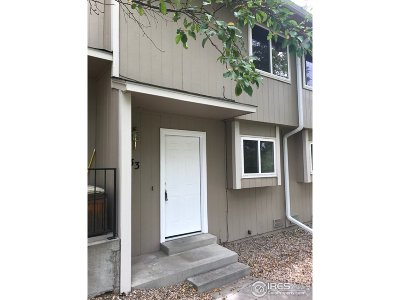 Fort Collins Condo/Townhouse For Sale: 1440 Edora Rd #33