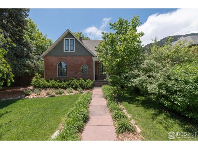 Boulder CO Single Family Home For Sale: $2,000,000