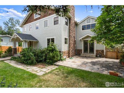 Boulder Single Family Home For Sale: 1010 Cedar Ave