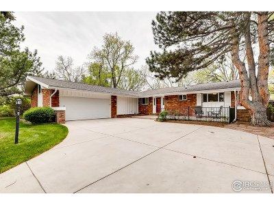 Boulder Single Family Home For Sale: 4490 Comanche Dr