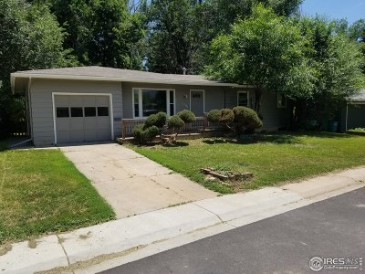 Fort Collins Single Family Home Active-Backup: 1501 Broadview Pl