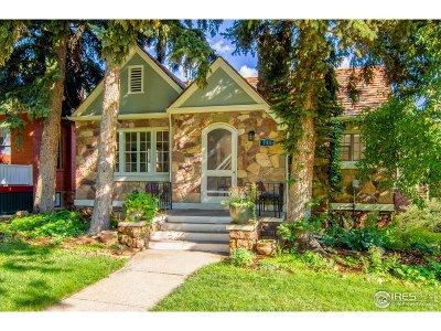 Boulder Single Family Home For Sale: 711 Mapleton Ave