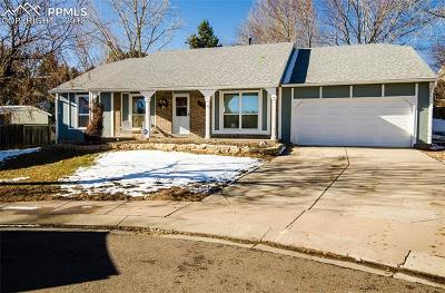 Colorado Springs Single Family Home For Sale: 6432 Rifle Circle
