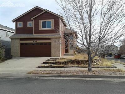 Colorado Springs Single Family Home For Sale: 5005 Bittercreek Drive