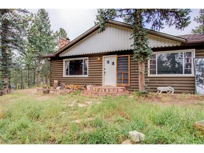 Green Mountain Falls Single Family Home For Sale: 10602 W Highway 24 Highway