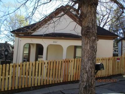 Manitou Springs Single Family Home For Sale: 860 Prospect Place