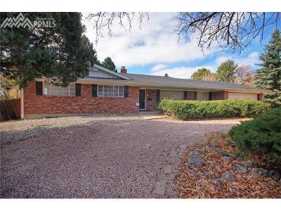 Colorado Springs Single Family Home For Sale: 2506 Fairview Circle