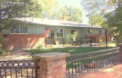 Colorado Springs Single Family Home For Sale: 2503 Fairview Circle