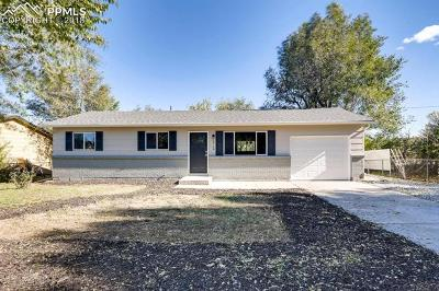 Colorado Springs Single Family Home For Sale: 1719 Barkley Road