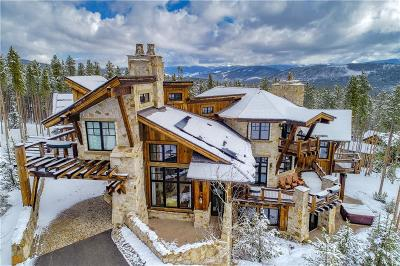 Breckenridge CO Single Family Home For Sale: $5,799,000