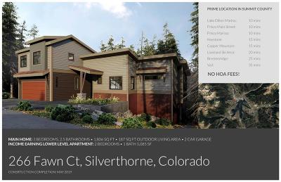 Silverthorne Single Family Home For Sale: 266 Fawn Court