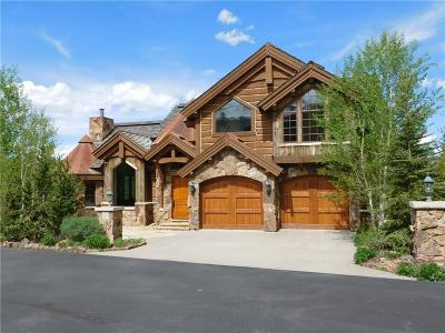 Breckenridge CO Single Family Home For Sale: $9,950,000