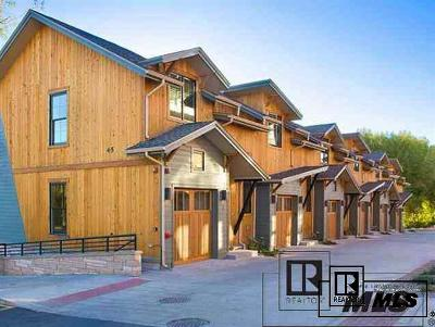 Steamboat Springs Condo/Townhouse For Sale: 45 6th Street #3