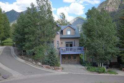 Telluride CO Single Family Home For Sale: $2,500,000
