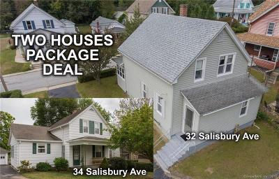 Tolland County, Windham County Single Family Home For Sale: 34 Salisbury Avenue