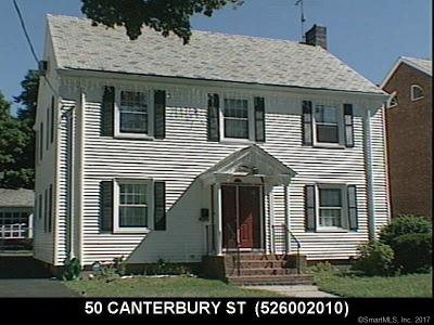 Hartford Single Family Home For Sale: 50 Canterbury Street
