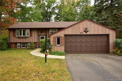 Newington Single Family Home For Sale: 84 Hickory Hill Lane