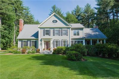 Simsbury Single Family Home For Sale: 49 Old Stone Crossing