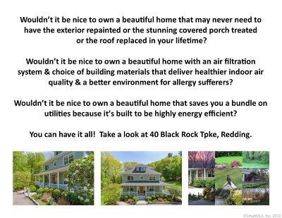 Redding Single Family Home For Sale: 40 Black Rock Turnpike