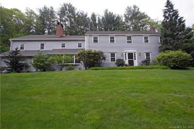Simsbury Single Family Home For Sale: 17 Cedar Hill Road