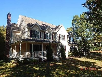 Tolland County, Windham County Single Family Home For Sale: 8 Hickory Court
