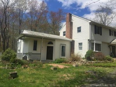 Southbury Single Family Home For Sale: 1722 Bucks Hill Road