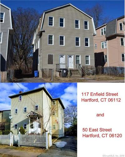 Hartford Multi Family Home For Sale: 117-50 Enfield - East Street
