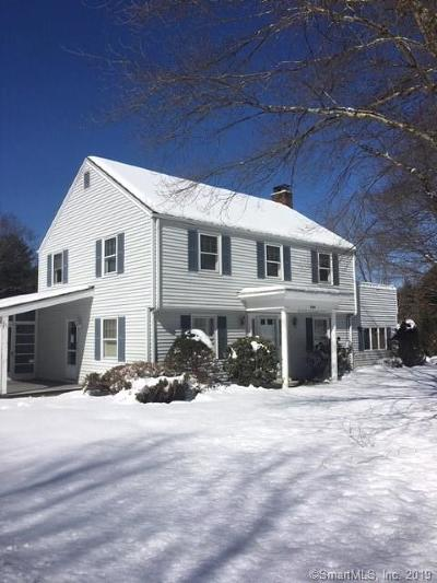 Willington Single Family Home For Sale: 265 River Road