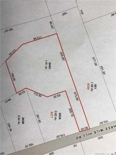 Middlebury Residential Lots & Land For Sale: 243 Three Mile Hill Lot C Road