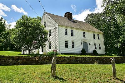 Tolland Single Family Home For Sale: 209 Sugar Hill Road