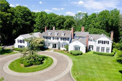 New Canaan Single Family Home For Sale: 87 North Wilton Road