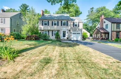 West Hartford Single Family Home For Sale: 69 Foxcroft Road
