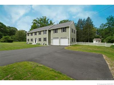 Tolland Single Family Home For Sale: 739 Crystal Lake Road