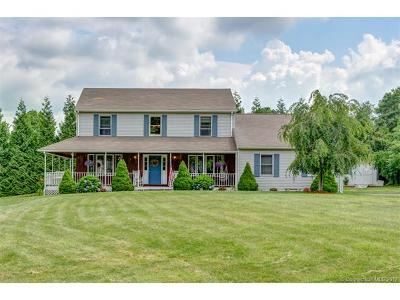 Tolland Single Family Home For Sale: 179 Mile Hill Road