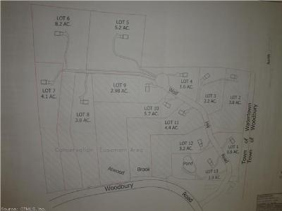 Watertown CT Residential Lots & Land For Sale: $89,900