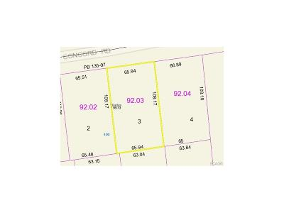 Blades Residential Lots & Land For Sale: Lot 3 Concord Rd