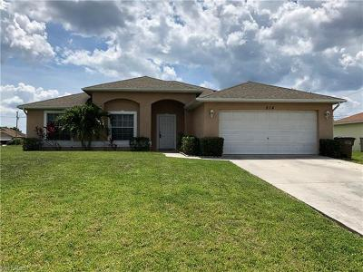 Cape Coral Single Family Home For Sale: 214 NW 25th Ave