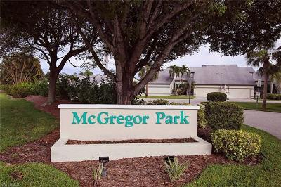 Fort Myers Condo/Townhouse For Sale: 2002 McGregor Park Cir