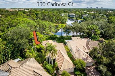 Naples Single Family Home For Sale: 330 Carinosa Ct #18-6