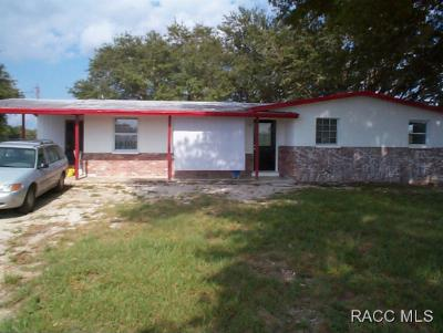 Lecanto Single Family Home For Sale: 6321 S Rainbow Point
