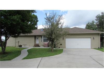 Citrus County Single Family Home For Sale: 2607 E Taschereau Path