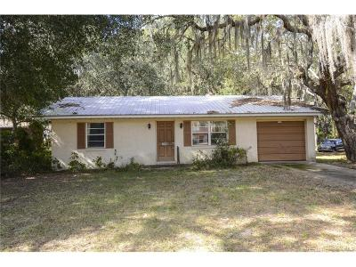 Floral City Single Family Home For Sale: 7110 S Florida Avenue