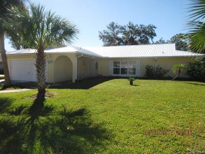 Crystal River Single Family Home For Sale: 1860 NW 16th Street