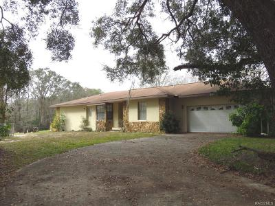 Floral City Single Family Home For Sale: 10501 E Turtle Lane
