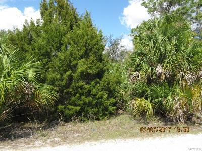 Citrus County Residential Lots & Land For Sale: 7855 W Pam Court
