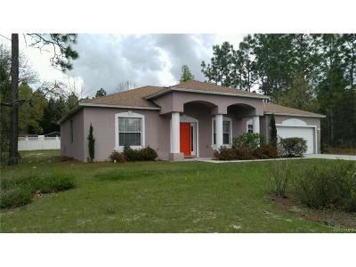 Citrus Springs Single Family Home For Sale: 9061 N Marcus Way