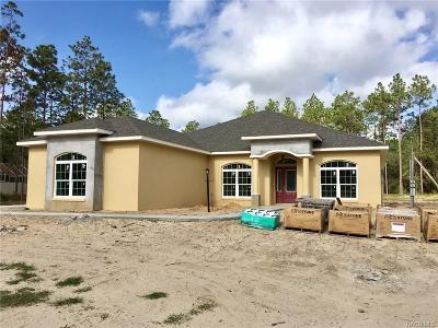 Beverly Hills Single Family Home For Sale: 5249 W Pine Ridge Boulevard