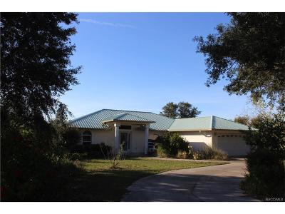 Lecanto Single Family Home For Sale: 1190 N Crause Point