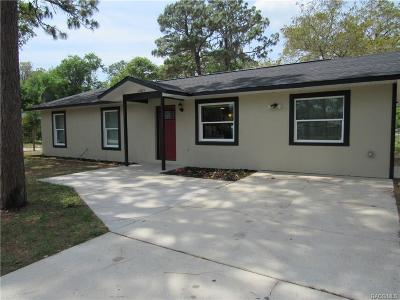 Inverness Single Family Home For Sale: 1005 Jones Avenue
